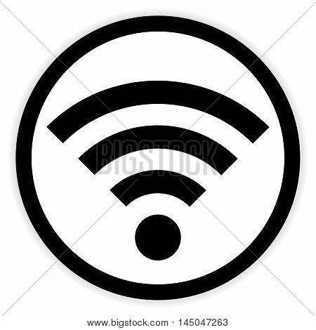 Wi-Fi button on white background. Vector illustration.
