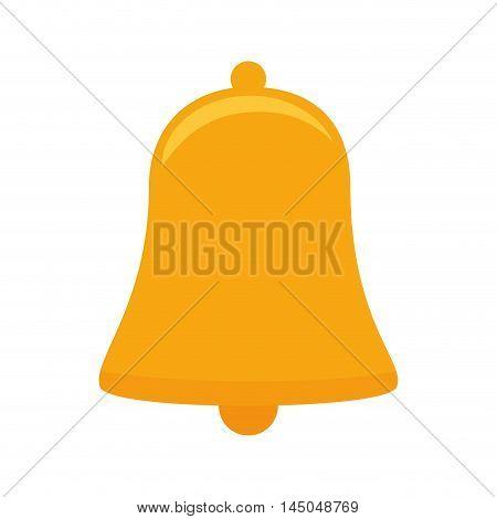 bell ring alert jingle decoration element instrument object vector illustration