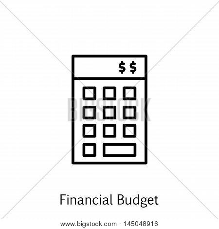 Vector Illustration Of Project Management Icon On Financial Budget And Investment In Trendy Flat Sty