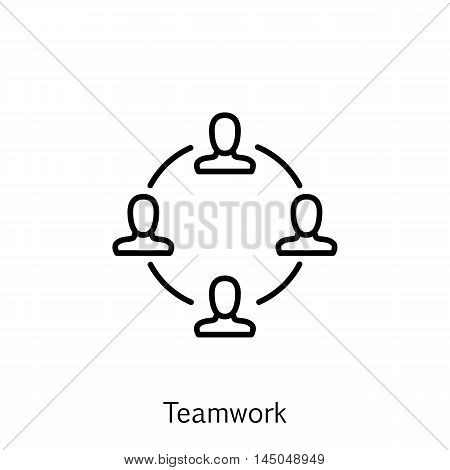 Vector Illustration Of Project Management Icon On Teamwork And Meeting In Trendy Flat Style. Project