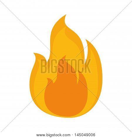 flame light fire hot burn flammable bonfire vector illustration