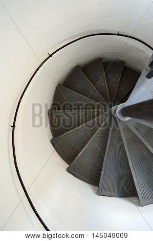 Stairs in the Grados tower in Zemun, Belgrade (Serbia)