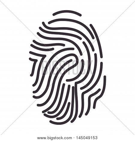fingerprint identity id human fingermark personal identification vector illustration