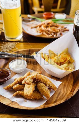 chicken nuggets with potatoes