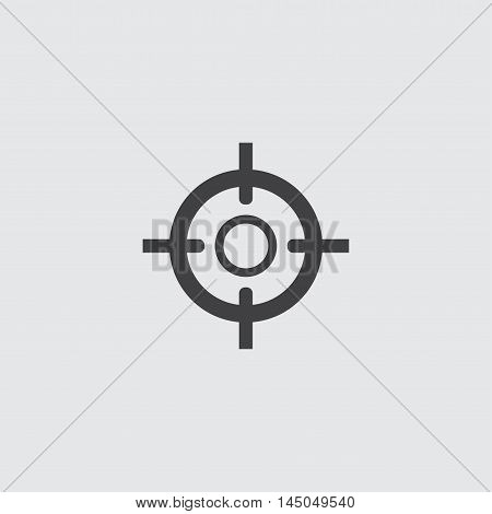 Sight icon in a flat design in black color. Vector illustration eps10