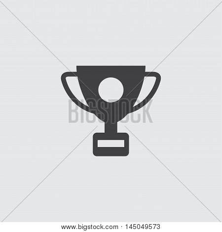 Sport cup icon in a flat design in black color. Vector illustration eps10