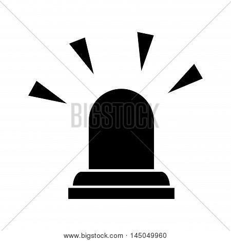 siren emergency light lamp bulb urgent alert vector illustration isolated