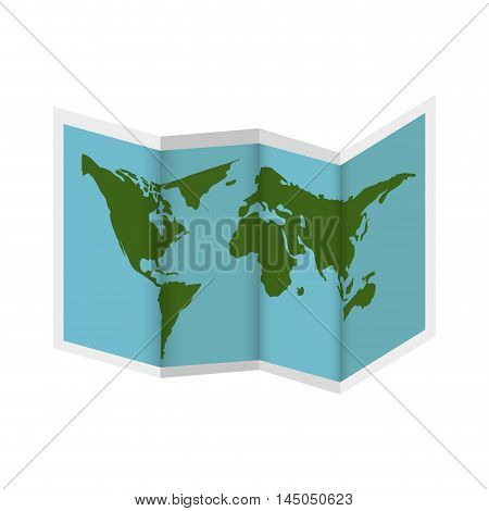 world map earth paper location continent ocean vector illustration