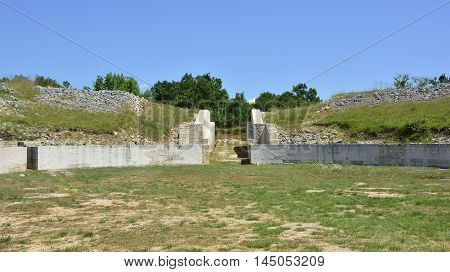 Part of the Burnum Archaeological Site within the Krka National Park Sibenik-Knin County Croatia.