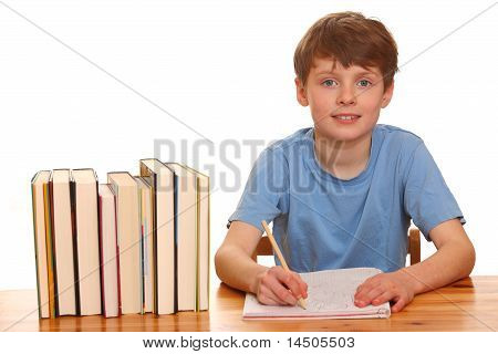Boy Doing His Homework