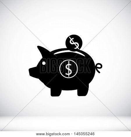 Piggy Banc Vector Icon