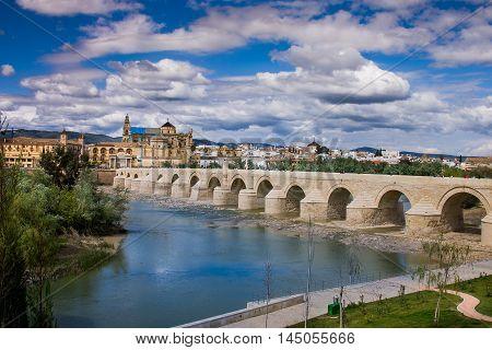 Cordoba or Cordova is a city of Andalusia southern Spain Roman bridge across the River Guadalquivir