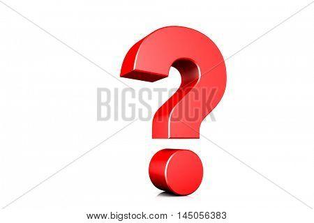 3d illustration question mark