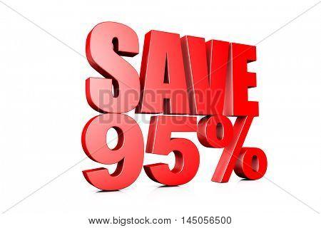 3d illustration save 90%