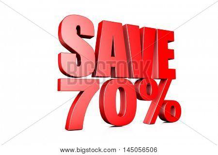 3d illustration save 70%