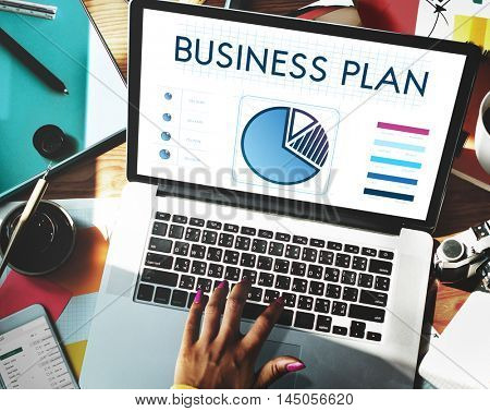 Business Plan Chart Data Technology Concept