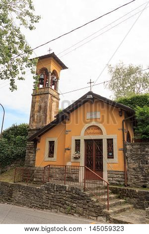 Chapel vergine di caravaggio in Citta Alta Bergamo Italy