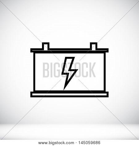 Car Battery Vector Icon
