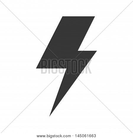 bolt thunder flash shape energy electricity power vector illustration