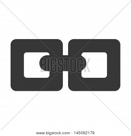 chain connection link cooperation strength safety vector illustration