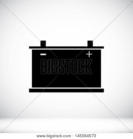 Car Battery Icon. Vector