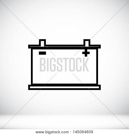 Car Battery Icon. Vector Eps 10