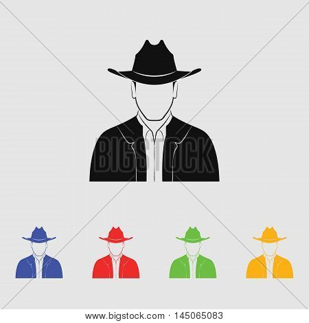 Man with hat  Vector Icon for web and mobile