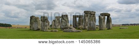 Stonehenge Panorama View. United Kingdom. England.