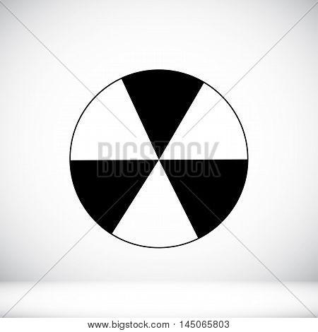 Radioactive Sign Sprayed On Metal Barrel Icon