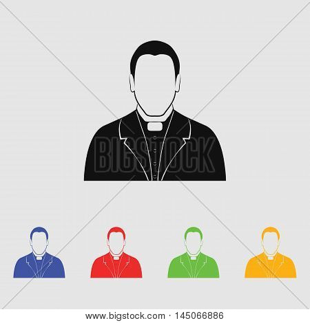 Priest father  Vector Icon for web and mobile