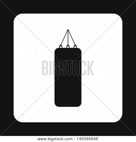 Punching bag for boxing icon in simple style on a white background