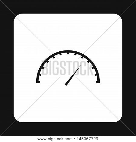 Car speedometer icon in simple style on a white background