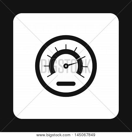 Tachometer icon in simple style on a white background