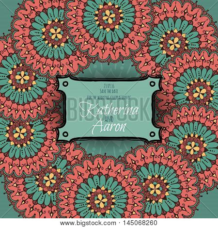 Invitation Wedding Card With Place For Text