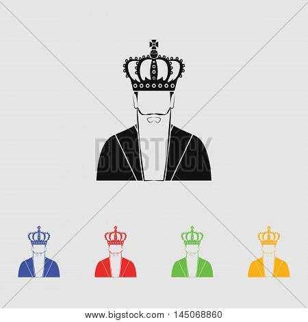 King  Vector Icon for web and mobile