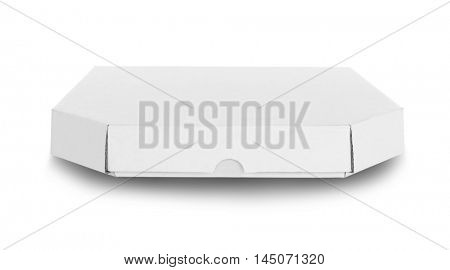 Cardboard pizza box , isolated on white