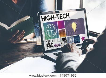 High Tech Technology Business Searching Internet Concept