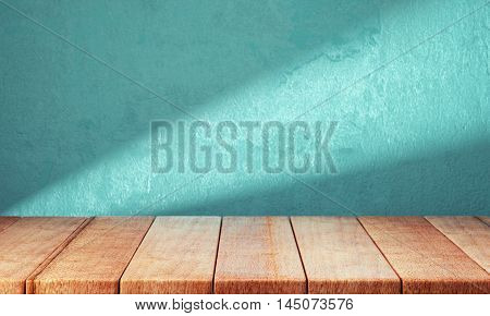Wooden planks over bright background. 3d rendering
