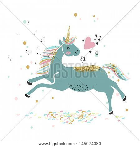 magic love unicorn card