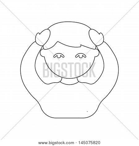 Headache icon cartoon. Single sick icon from the big ill, disease collection.