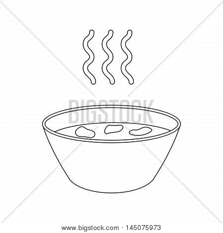 Hot soup icon cartoon. Single sick icon from the big ill, disease collection.