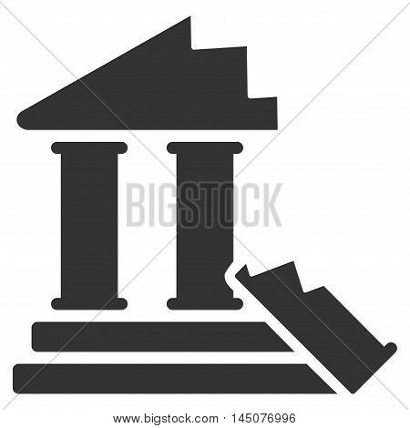 Historic Ruins icon. Vector style is flat iconic symbol, gray color, white background.