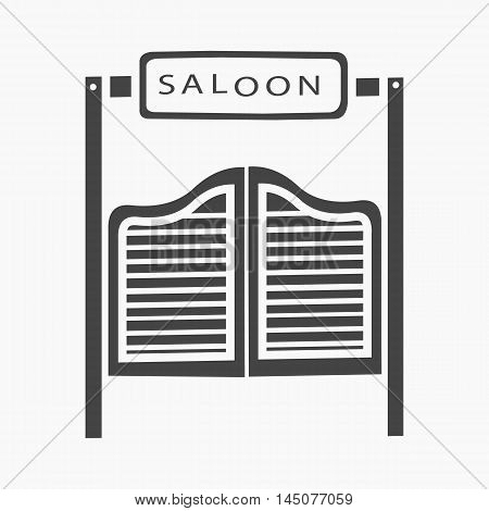 Saloon icon cartoon. Singe western icon from the wild west collection.