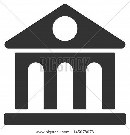 Museum Building icon. Vector style is flat iconic symbol, gray color, white background.