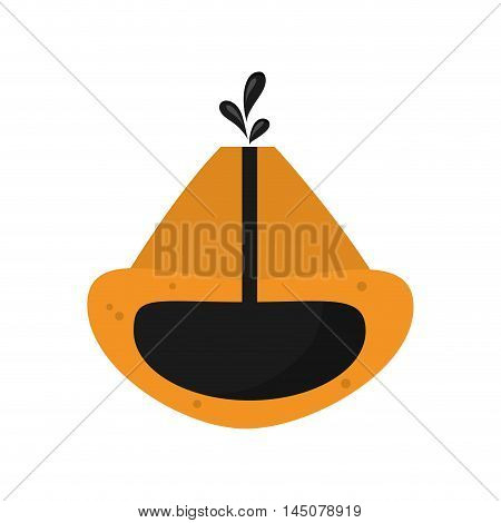 earth drop petroleum gasoline oil industry industrial icon. Flat and isolated design. Vector illustration