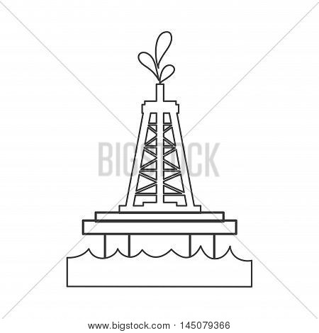 tower drop petroleum gasoline oil industry industrial icon. Flat and isolated design. Vector illustration