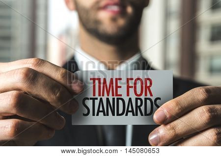 Time for Standards