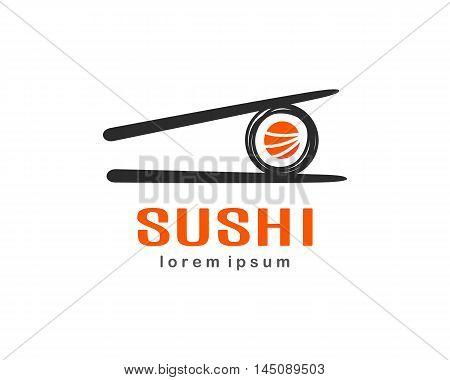 Sushi Logo design. Creative concept isolated on white