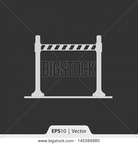 Strip Barrier Vector Icon For Web And Mobile