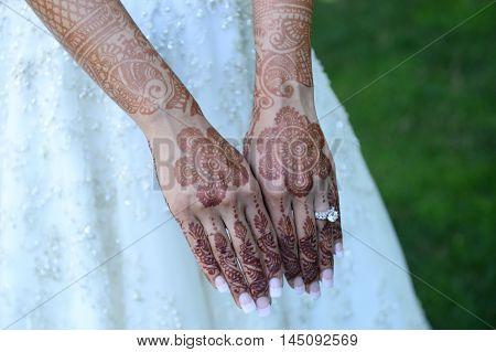 Bride Henna Carved Hands